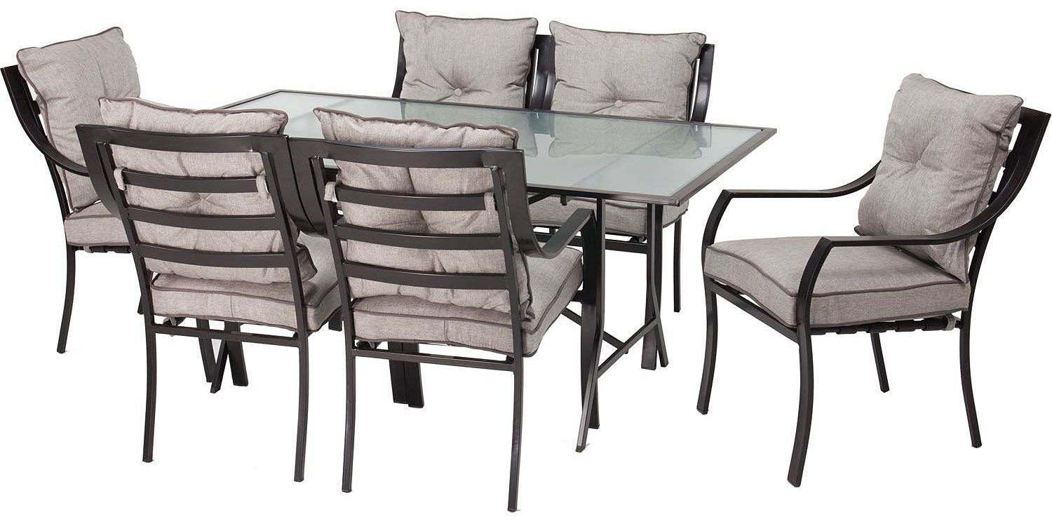 Hanover lavallette 7 piece outdoor set lavallette7pc for Outdoor furniture big w