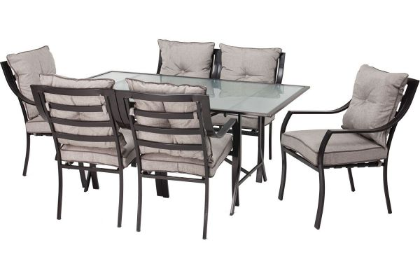 Large image of Hanover Lavallette 7-Piece Outdoor Dining Set - LAVALLETTE7PC