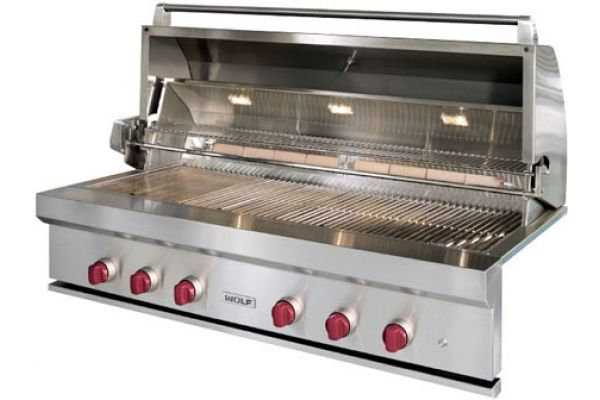 """Large image of Wolf 54"""" Stainless Steel Outdoor Built-In Natural Gas Grill - OG54"""