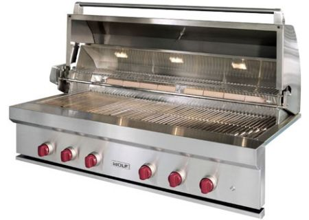"Wolf 54"" Stainless Steel Outdoor Built-In Natural Gas Grill - OG54"