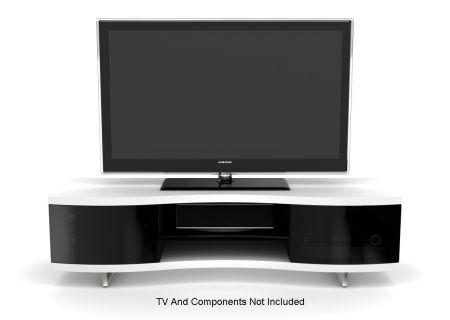 BDI Ola 8137 White TV Stand  - OLA8137WH