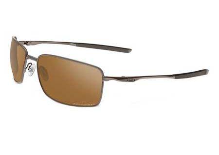 Oakley Polarized Square Wire Tungsten Mens Sunglasses - OO4075-06
