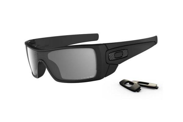 Oakley Batwolf Wrap Matte Black and Grey Polarized Lens Mens Sunglasses - OO910104