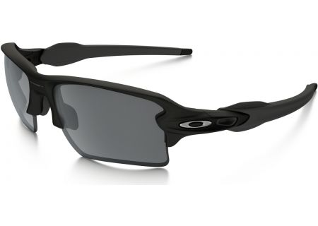 Oakley Semi-Rimless Black Flak 2.0 XL Mens Sunglasses - OO9188-01