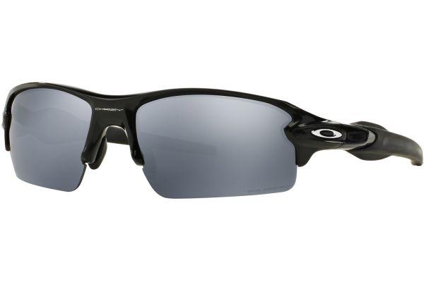 Large image of Oakley Flak 2.0 Polarized Polished Black Mens Sunglasses - OO929507