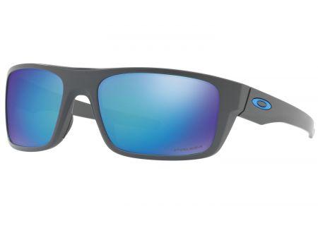 Oakley Drop Point Prizm Sapphire Polarized Matte Grey Mens Sunglasses  - OO9367-0660
