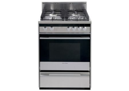 "Fisher & Paykel 24"" Stainless Steel Freestanding Full Gas Range - OR24SDMBGX2"