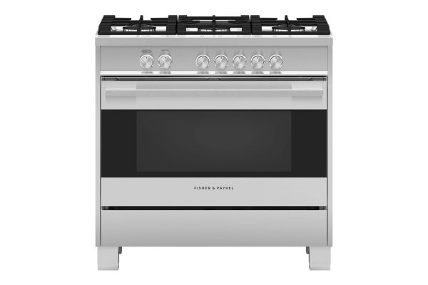 """Large image of Fisher & Paykel Series 7 36"""" Stainless Steel Gas Range With 5 Burners - OR36SDG4X1"""