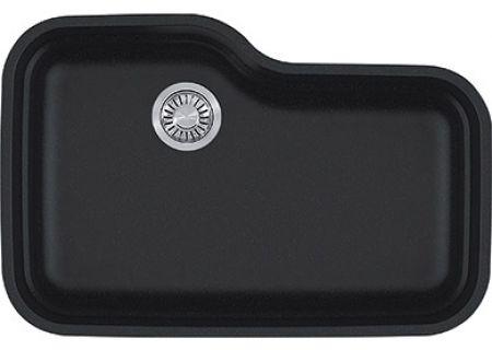 Franke Orca Single Bowl Granite Onyx Undermount Sink - ORG110ONY