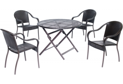 Hanover - ORLDN5PC-BRN - Patio Dining Sets