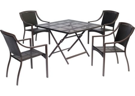 Hanover - ORLDN5PCSQ-BRN - Patio Dining Sets