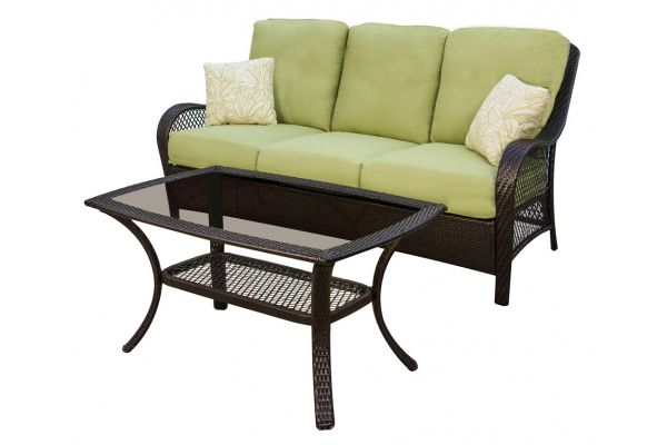 Large image of Hanover Orleans 2-Piece Outdoor Seating Patio Set - ORLEANS2PC
