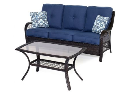 Hanover Orleans Navy Blue 2-Piece Seating Patio Set - ORLEANS2PC-B-NVY