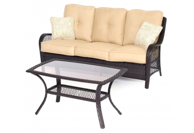Hanover - ORLEANS2PC-B-TAN - Patio Seating Sets