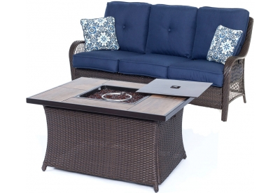 Hanover - ORLEANS2PCFP-NVY-A - Patio Seating Sets
