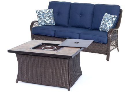 Hanover - ORLEANS2PCFP-NVY-B - Patio Seating Sets