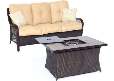 Hanover - ORLEANS2PCFP-TAN-A - Patio Seating Sets
