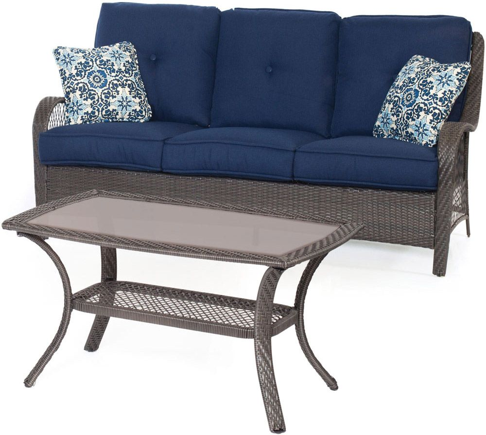 Hanover orleans outdoor seating set orleans2pc g nvy for Outdoor furniture big w