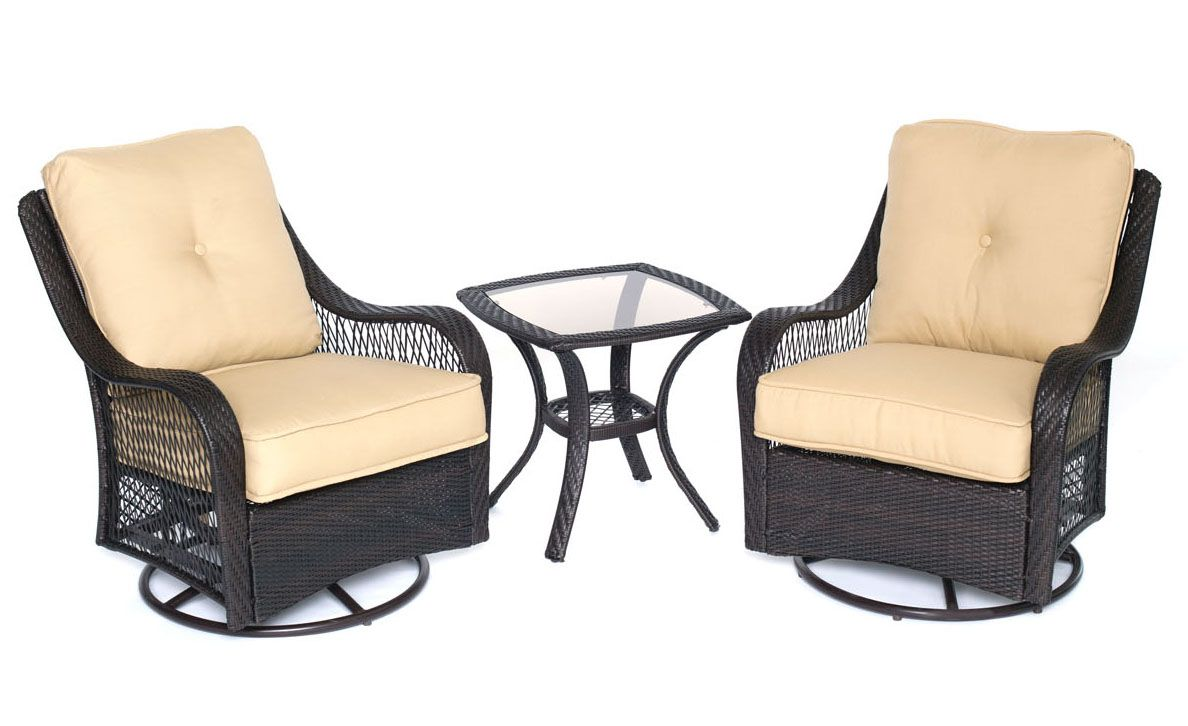 Hanover orleans 3 piece patio set orleans3pcsw b tan for Outdoor furniture big w