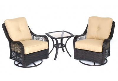 Hanover - ORLEANS3PCSW-B-TAN - Patio Seating Sets