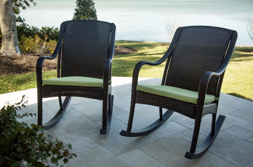 Hanover 4 piece rocking patio set orleans4pcrkr for Outdoor furniture big w