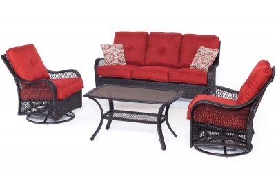 Hanover - ORLEANS4PCSW-B-BRY - Patio Furniture