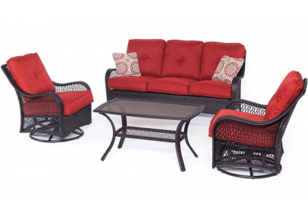 Hanover - ORLEANS4PCSW-B-BRY - Patio Seating Sets