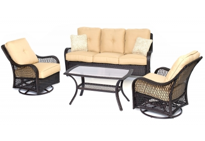 Hanover - ORLEANS4PCSW-B-TAN - Patio Seating Sets