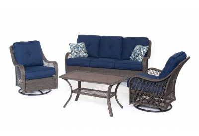 Hanover - ORLEANS4PCSW-G-NVY - Patio Furniture