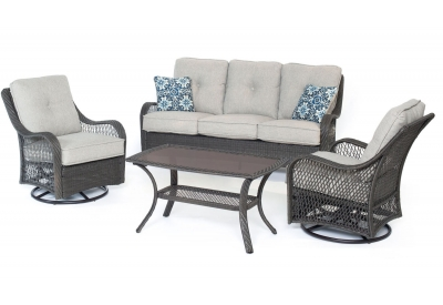 Hanover - ORLEANS4PCSW-G-SLV - Patio Furniture