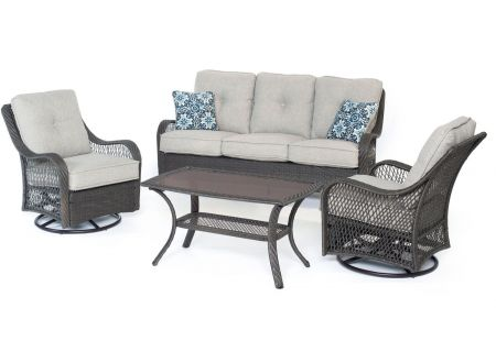 Hanover - ORLEANS4PCSW-G-SLV - Patio Seating Sets