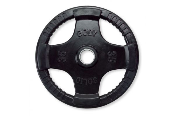 Body-Solid 35 lb Rubber Grip Olympic Plate  - ORT35