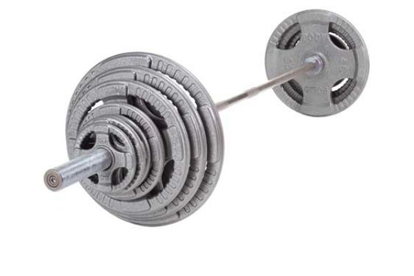 Large image of Body-Solid 300 Lb Steel Grip Olympic Set - OST300S