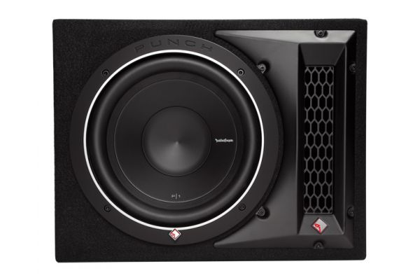 "Large image of Rockford Fosgate 10"" Single P1 Enclosed Car Subwoofer - P1-1X10"