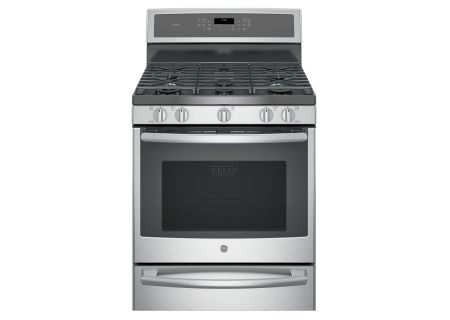 "GE Profile 30"" Stainless Steel Dual-Fuel Free-Standing Convection Range With Warming Drawer - P2B940SEJSS"