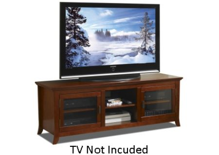 "Tech Craft Walnut 62"" Wide Credenza TV Stand - PAL62"