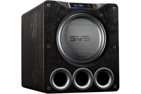 """Large image of SVS 16"""" Ultra Series Black Oak Veneer Ported Subwoofer - PB16ULTRA"""