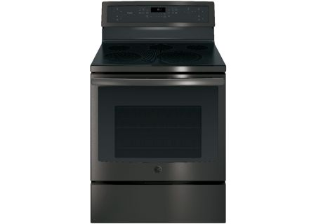 "GE Profile 30"" Black Stainless Steel Electric Convection Range - PB911BJTS"