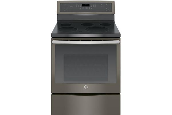 "GE Profile 30"" Freestanding Slate Electric Convection Range - PB911EJES"