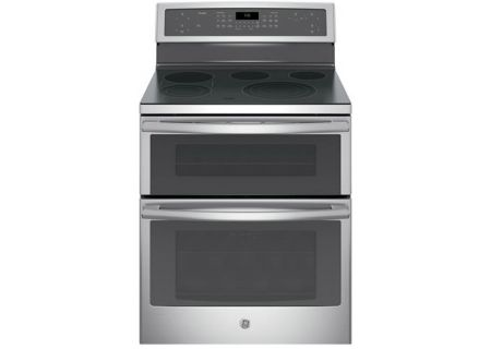 """GE Profile 30"""" Free-Standing Electric Double Oven Stainless Steel Convection Range - PB960SJSS"""