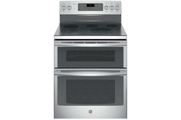 "GE Profile 30"" Stainless Steel Freestanding Electric Double Oven - PB980SJSS"