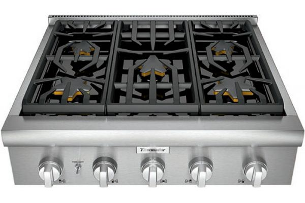 """Thermador 30"""" Professional Series Stainless Steel Gas Rangetop - PCG305W"""