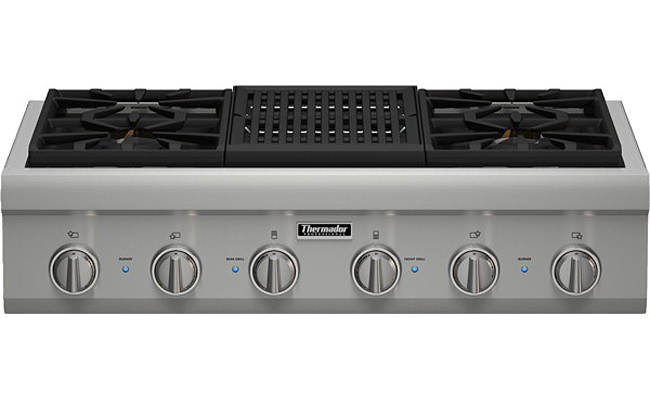 Thermador 36 Quot Stainless Gas Rangetop Pcg364nl