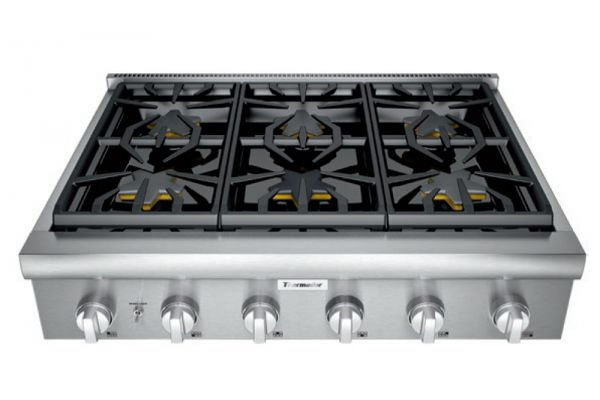 """Thermador 36"""" Professional Series Stainless Steel Gas Rangetop - PCG366W"""