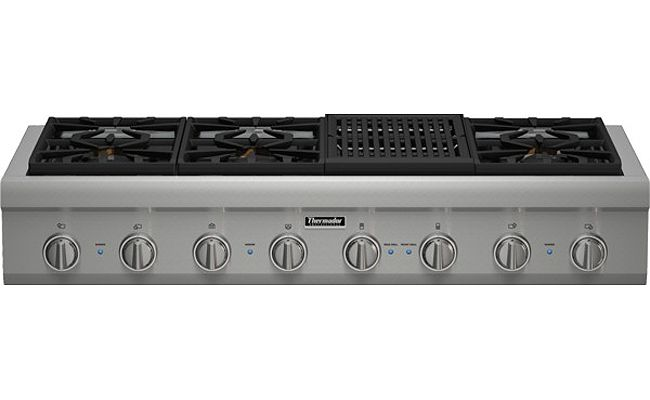 Thermador 48 Professional Series Stainless Steel Gas Rangetop Pcg486nl