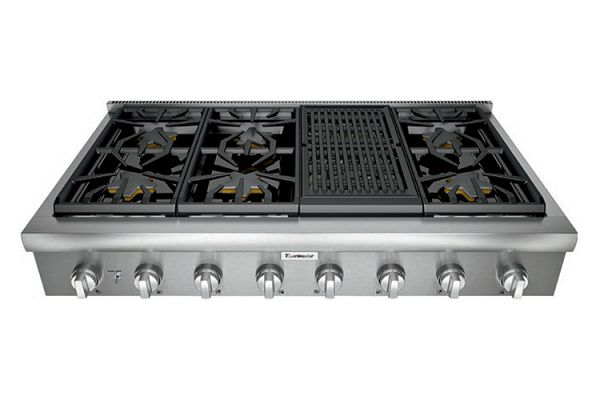"Thermador 48"" Professional Series Stainless Steel Gas Rangetop - PCG486WL"
