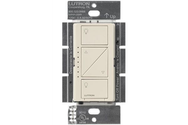 Large image of Lutron Caseta Light Almond 600-Watt In-Wall Dimmer - PD-6WCL-LA