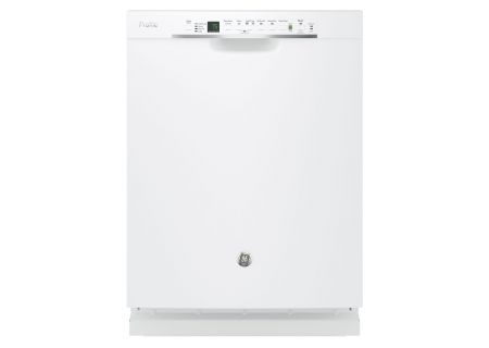 "GE Profile 24"" White Built-In Dishwasher - PDF820SGJWW"