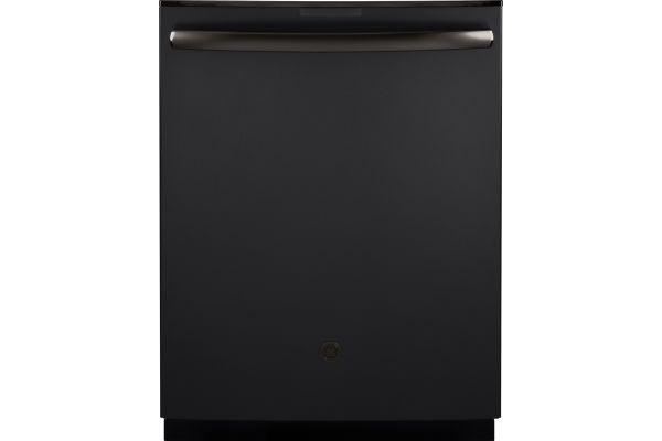 "GE Profile Series 24"" Black Slate Built-In Dishwasher - PDT845SFLDS"
