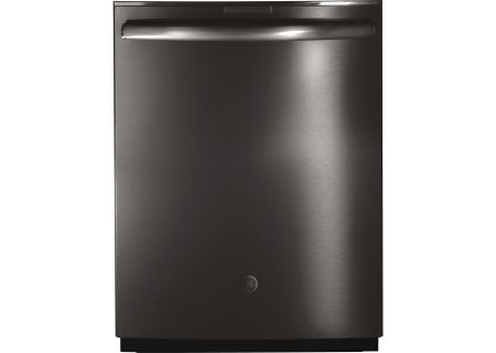 "GE Profile Series 24"" Black Stainless Built-In Dishwasher - PDT855SBLTS"